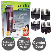 Andis AGC2 Pro Clip 2 Super Speed Dog Clippers Combo Set