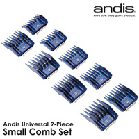 Andis Universal Clipper Blade Small 9 Piece Comb Set