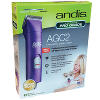 Andis Pro Clip AGC2 Professional 2-Speed Dog Clipper Purple