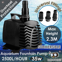 2500L/H Aquarium Fountain Pond Submersible Water Pump