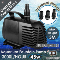 3000LPH Aquarium Fountain Pond Submersible Water Pump
