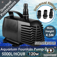 5000LPH Aquarium Fountain Pond Submersible Water Pump