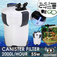 2000L/H Aquarium External Canister Filter UV Light
