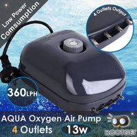 Aquarium Pond Oxygen Air Pump 4 Outlets