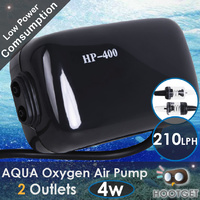 Aquarium Pond Oxygen Air Pump 2 Outlet