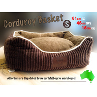 LUPERCUS Corduroy Ultra Soft  Basket - Small