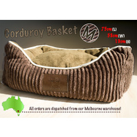 LUPERCUS Corduroy Ultra Soft  Basket - Medium