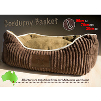 LUPERCUS Corduroy Ultra Soft  Basket - Large