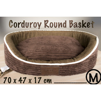 LUPERCUS Corduroy Round Basket - Medium