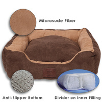LUPERCUS Microfiber Suede Pet Basket - Small