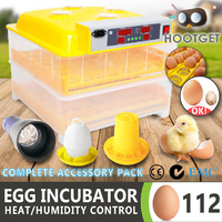 Egg Incubator Fully Automatic Digital LED Hatch 112 Eggs