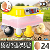 Egg Incubator Fully Automatic Digital LED Hatch 24 Eggs