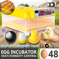 Egg Incubator Fully Automatic Digital LED Hatch 48 Eggs