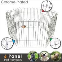 LUPERCUS Chrome Plated 6 Panels Pet Playpen