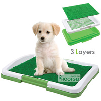 Puppy Dog Potty Toilet Tray With Grass Mat