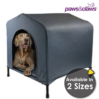 Canvas Elevated Waterproof Pet Dog Kennel House