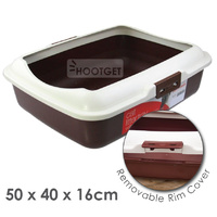 Paws n claws Cat Litter Tray with Rim