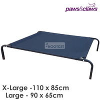 Paws and Claws Dog Bed Raised Cot Trampoline Hammock - 2 Sizes