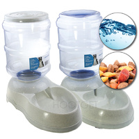 Paws n Claws Food/Water Gravity Pet Feeder - 3.8/11L