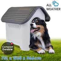 Weatherproof Plastic Dog Kennel House