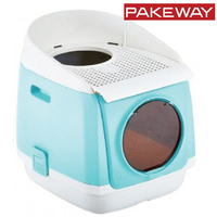 Pakeway Tomcat Two Door Entry Cat Litter Box Blue