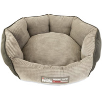 Petlife Odour Resistant Dog Cuddle Bed Grey - 3 Size