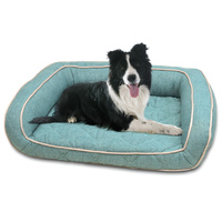 Purina Petlife Quilted Orthopedic Dog Sofa Dog Bed Teal - Medium