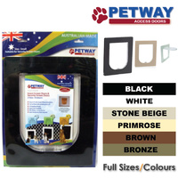 PETWAY Pet Door for Security Door - 3 Sizes / 6 Colours