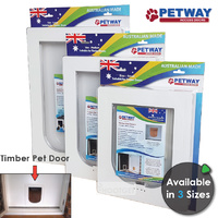 PETWAY Timber Doors - 3 Sizes