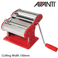 Avanti Stainless Steel Pasta Making Machine 150mm Red
