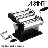 Avanti Stainless Steel Pasta Making Machine 150mm Black