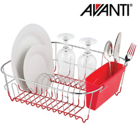 Avanti Small Slimline Dish Rack Red