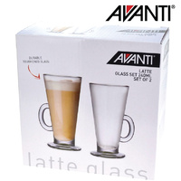 Avanti Latte Coffee Glass 240ml - Set of 2