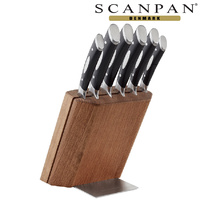SCANPAN Classic 7pc Oak Knife Block Set
