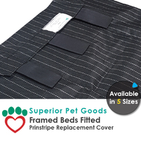Superior Pet Goods Pinstripe Dog Bed Cover