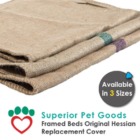 Superior Pet Goods Hessian Dog Bed Mat Replacement Cover