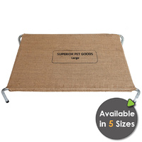 Superior Pet Goods Hessian Raised Dog Bed - 5 Sizes