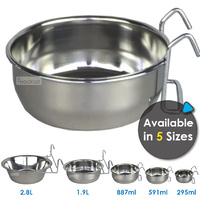 Superior Pet Goods Stainless Steel Coop Cups