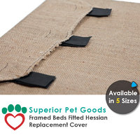 Superior Pet Goods Hessian Dog Bed Replacement Cover