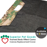 Superior Pet Goods Camo Canvas Dog Bed Cover