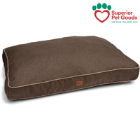 Hooch Dog Bed Mattress Cushion Thatch Chocolate Large