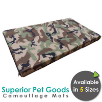 Superior Pet Goods Budget Camouflage Dog Mats - 4 Sizes