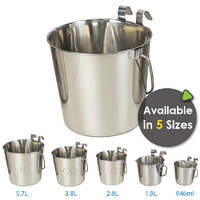 Superior Pet Goods Stainless Steel Bucket With Hook