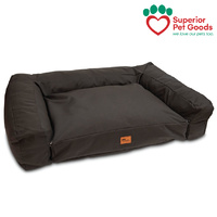 Superior Pet Goods Scooby Dog Bed Sofa Mattress Canvas Charcoal