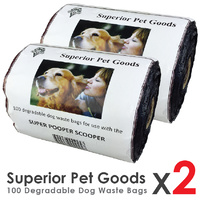 Superior Pet Goods Degradable Waste Bag Roll - 200pcs