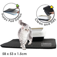 Double Layer Cat Litter Tray Trap Mat