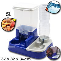 2 in 1 Pet Cat Dog Feeder Food Water Dispenser