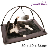 Paws & Claws Cat Bed Play Activity Cushion