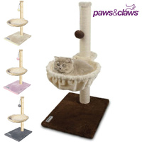 Paws & Claws Cat Tree Scratching Post with Sleeper and Toy