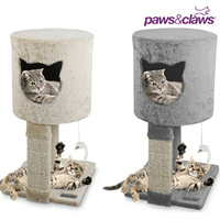 Paws & Claws Hideaway Cat Tree House Scratching Tower with Toy